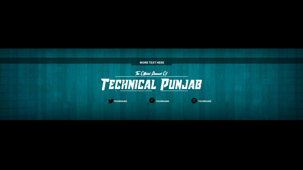 Channel Art Template Photoshop Download from hamzag.com