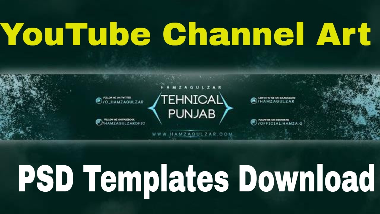 Top 15 YouTube Channel Art Templates PSD Free Download